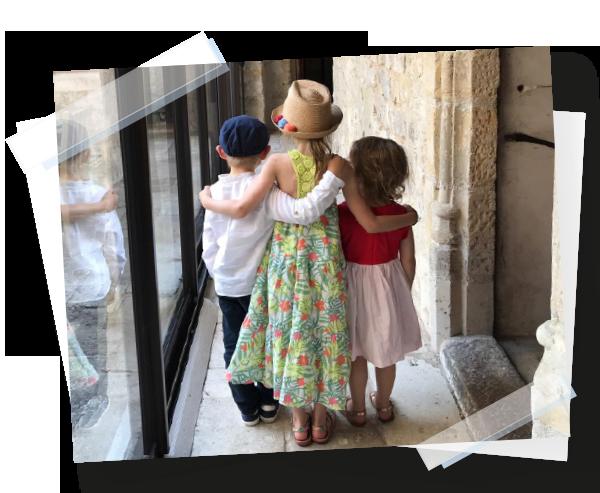 Enfants à un mariage en Essonne