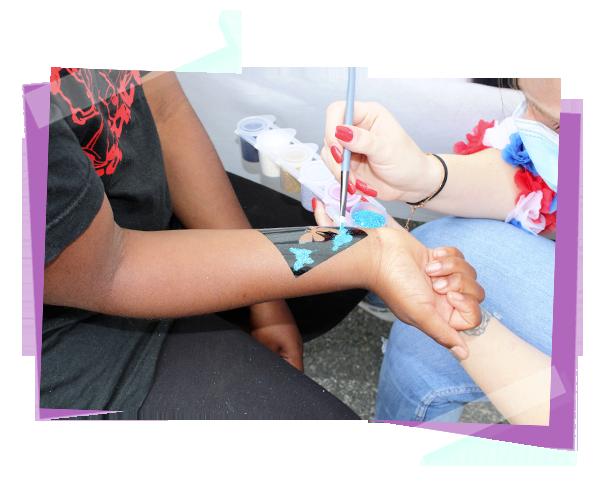 atelier maquillage et tatouage pour enfants