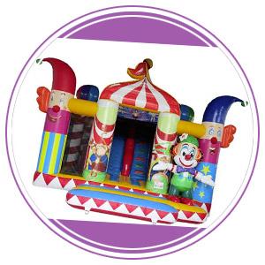 structure gonflable cirque et clown